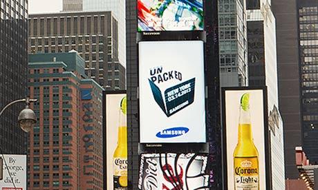 Samsung ad in New York