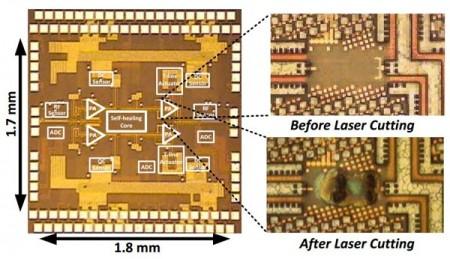 Самовосстанавливающийся чип после резки лазером