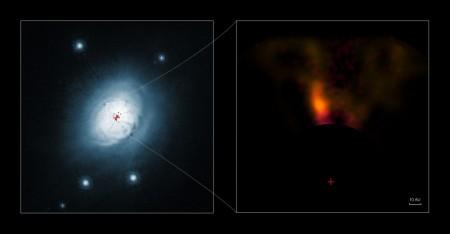 Фотография газа и пыли вокруг звезды HD 100546