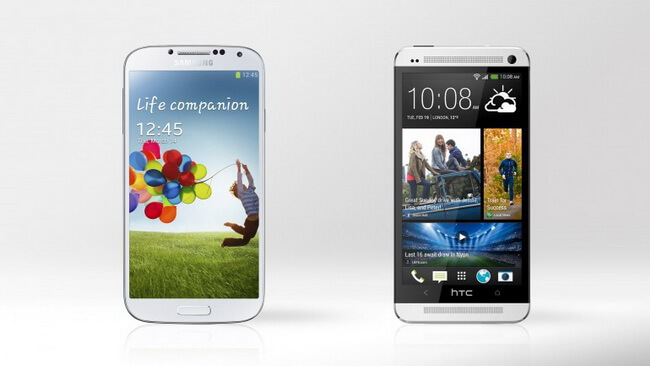 htc one vs galaxy s4
