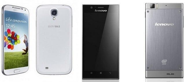 Galaxy S IV против IdeaPhone K900