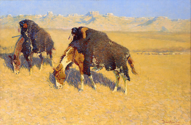 Индейцы имитируют быков