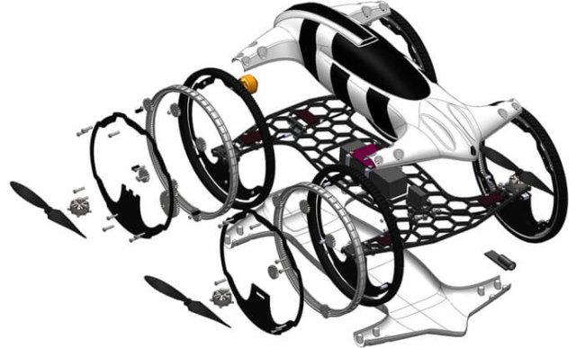 hybrid car-helicopter B