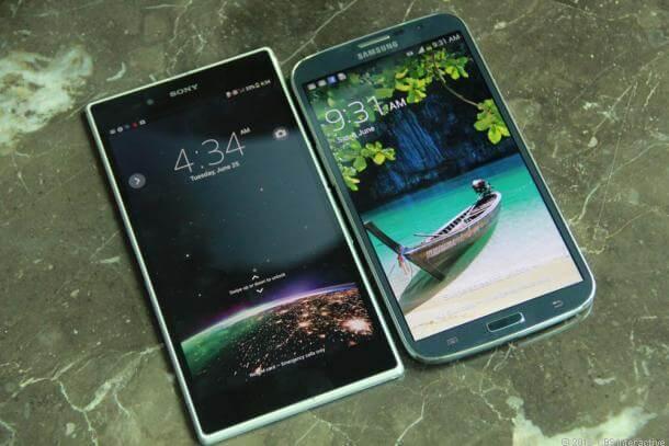 Xperia Z Ultra vs Samsung Mega