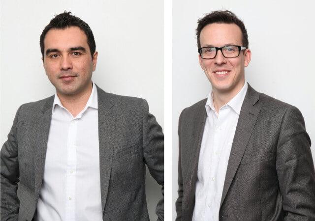 kazam execs - Kazam CEO Michael Coombes (left) and CMO James Atkins (right)