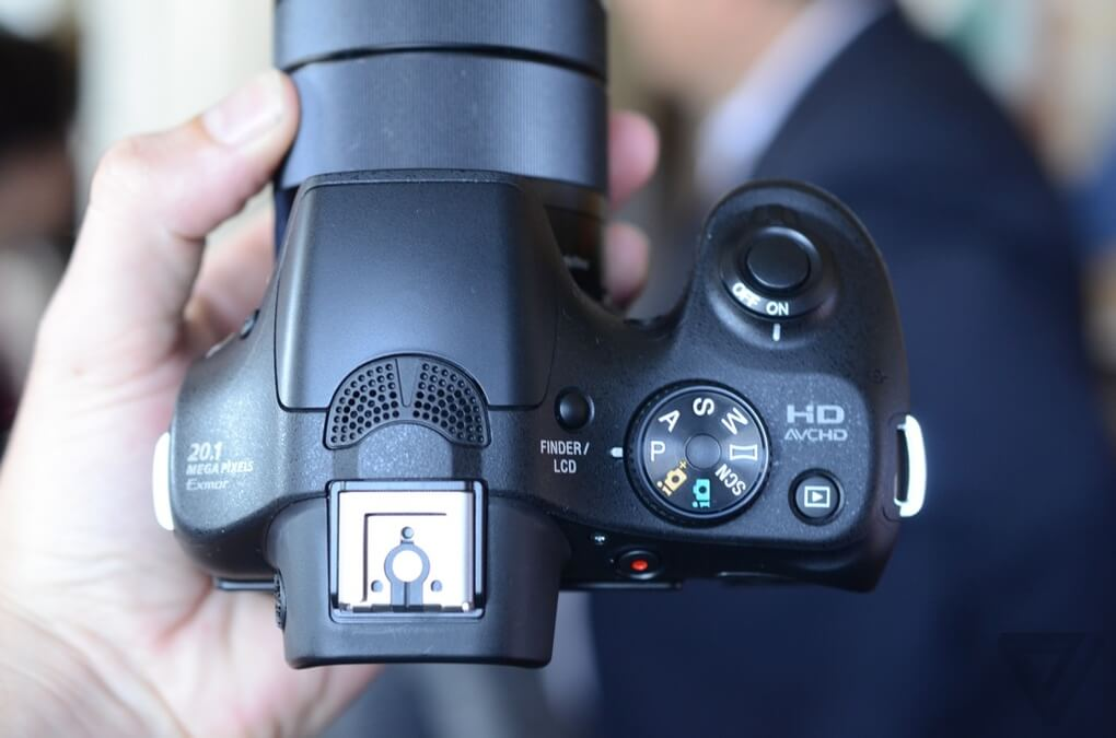 Sony Alpha A3000 from top