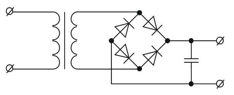 Схема трансформаторного БП