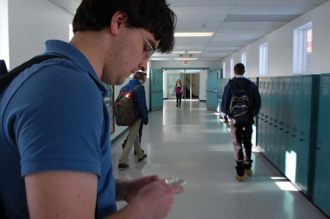 Студент с телефоном