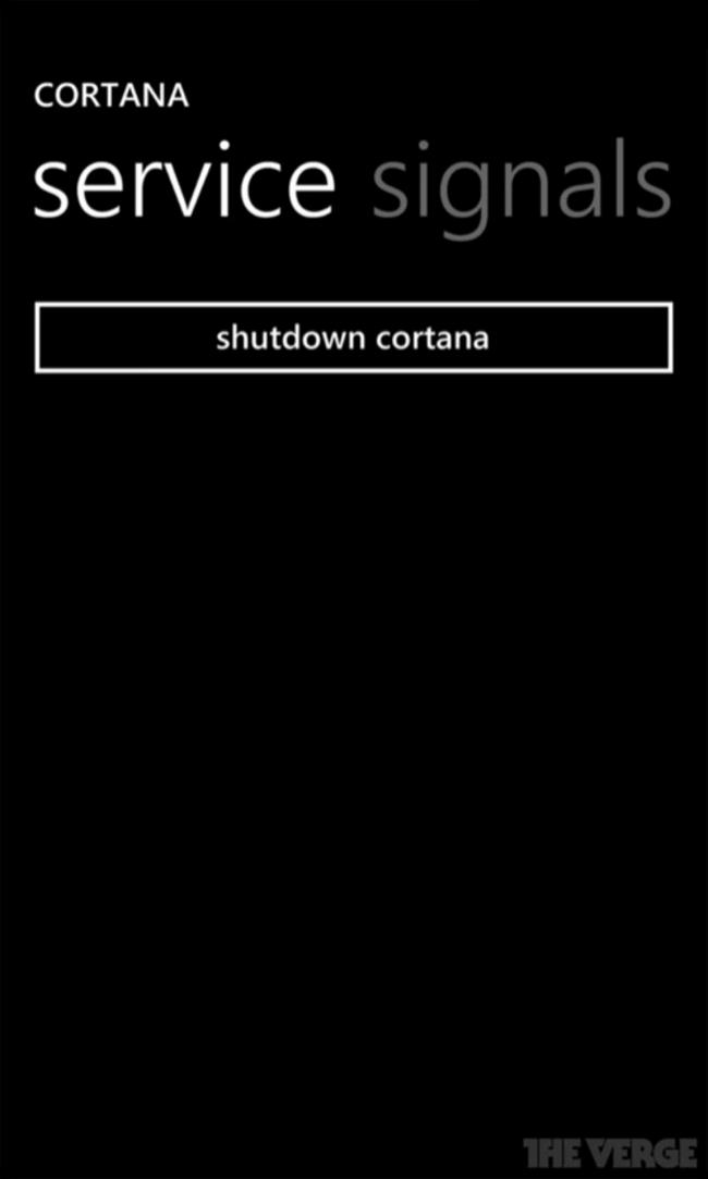 Якобы виртуальный ассистент Microsoft Cortana