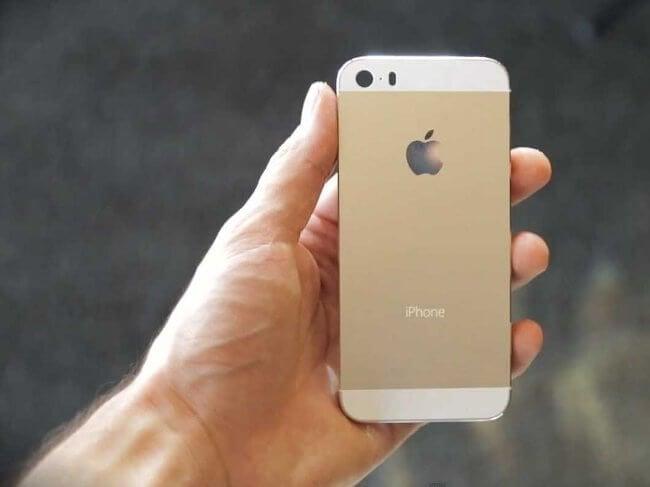 Золотистый iPhone 5s