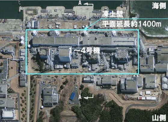 ice wall around Fukushima plant layout