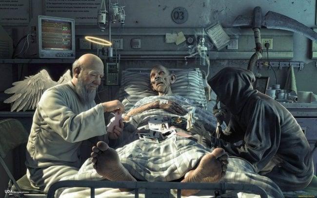 между смертью и жизнью картинки