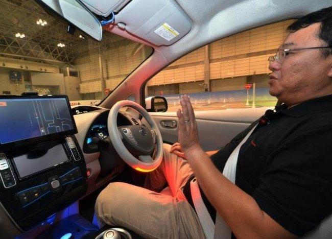 Nissan self-driving car CEATEC