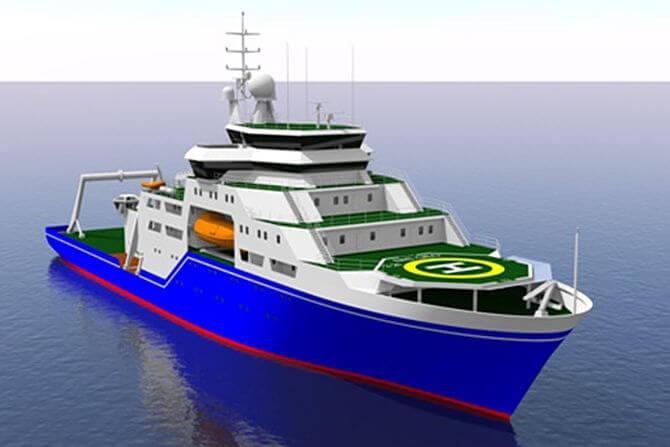 Новый научно-исследовательский корабль
