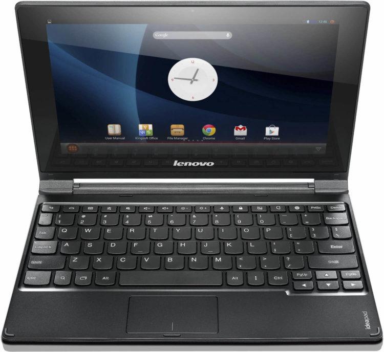 Lenovo A10 в режиме ноутбука