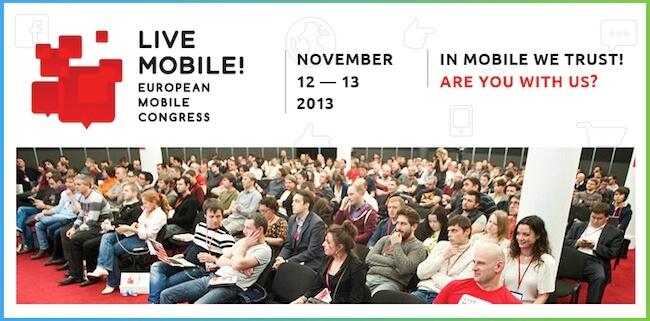 Live Mobile! European mobile congress 2013