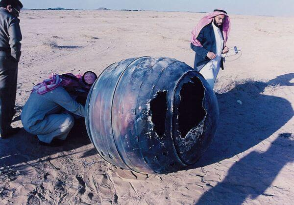 Космический мусор на Земле