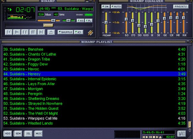 Классический интерфейс Winamp