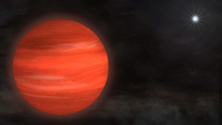 Огромная планета Супер-Юпитер