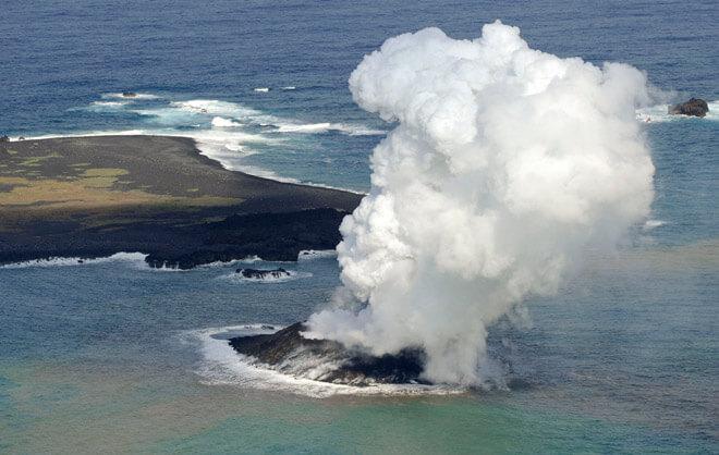 Извержение вулкана создал