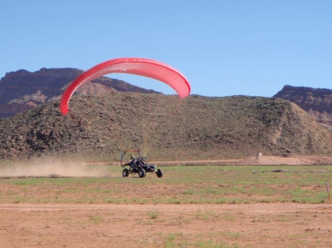 Летающий баг Skyrunner во время посадки