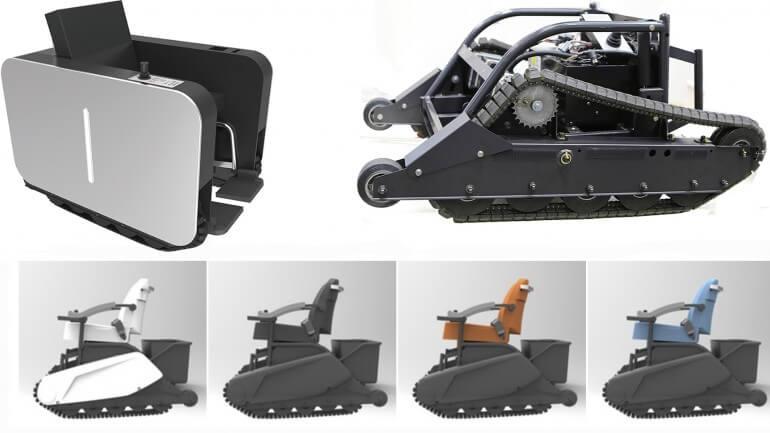 Nano Optonics Energy продемонстрировала две новые модели гусеничных колясок для людей с ограниченными возможностями