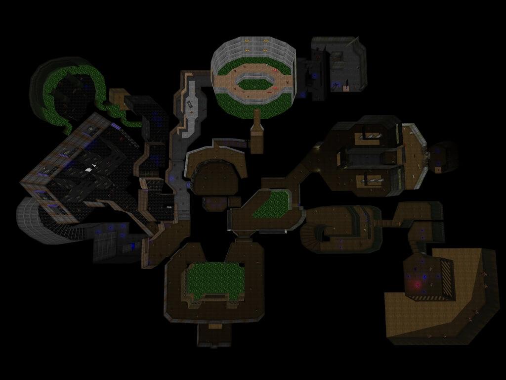 Карта одного из игровых уровней