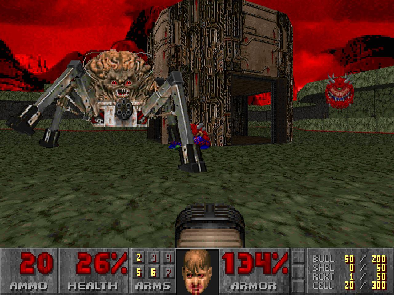 Обработанная модель демона в игре