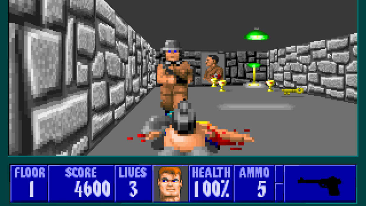 Кадр из игры Wolfenstein 3D
