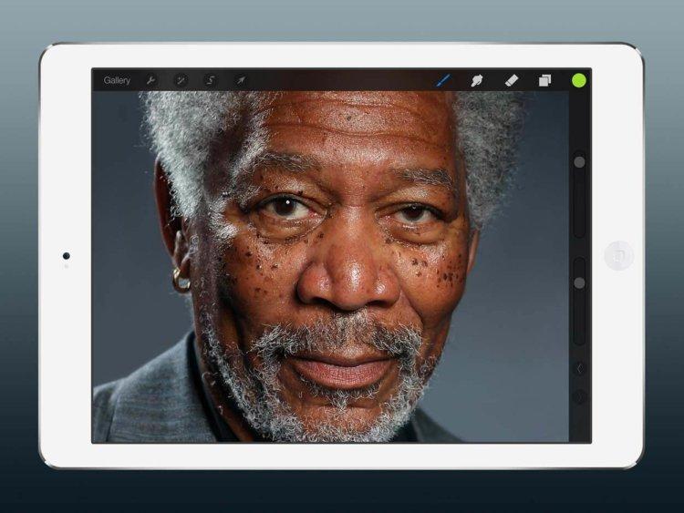 Удивительный портрет, созданный при помощи iPad