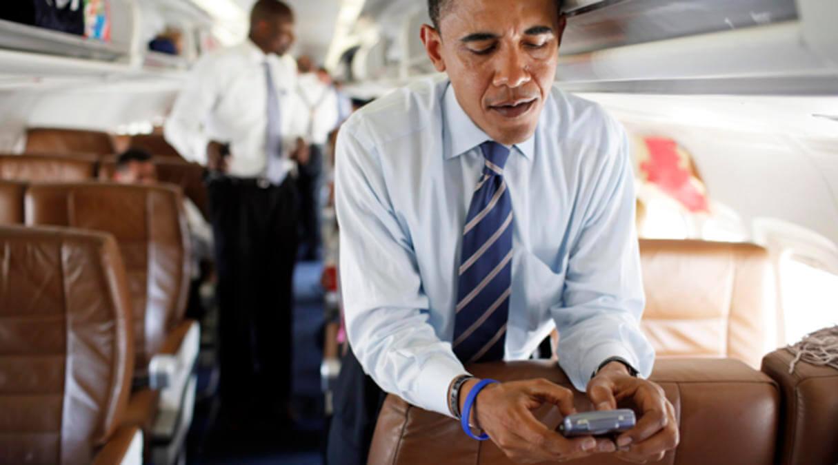 Президент Обама и его BlackBerry