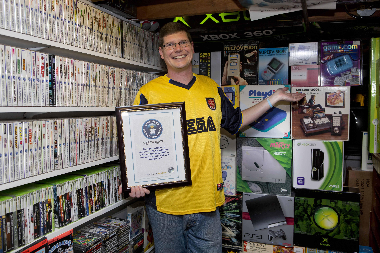 Обладатель мирового рекорда по количеству видеоигр в личной коллекции