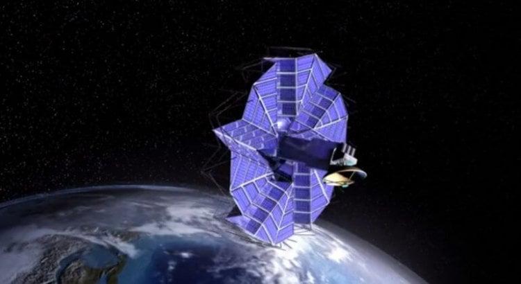 Солнечная панель свернутая по оригами