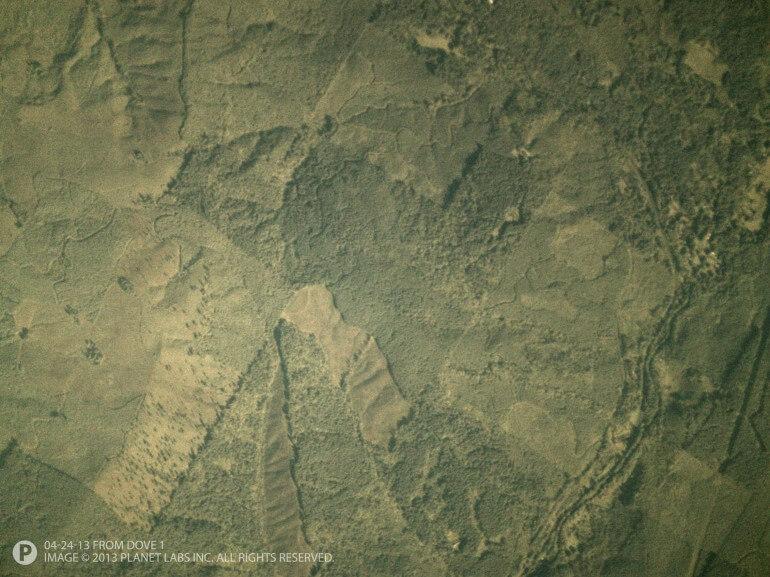 Пробный снимок, сделанный с одного из тестовых спутников Dove