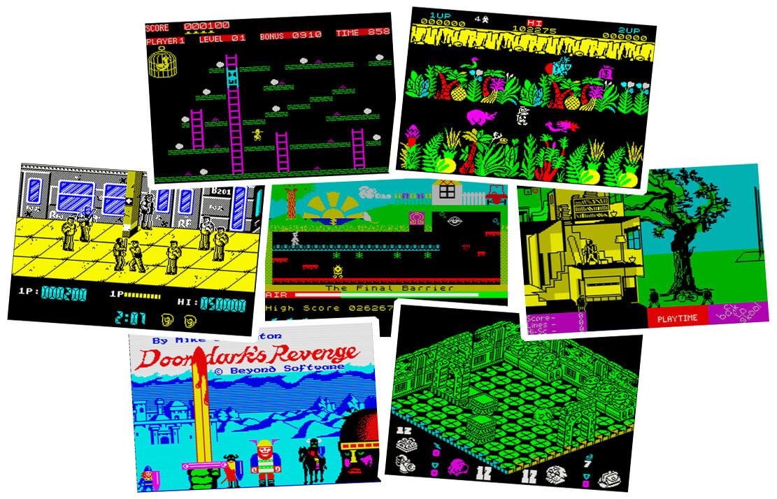 Скриншоты из некоторых классических игр