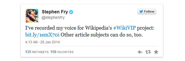 Стивен Фрай уже есть в аудио-архиве