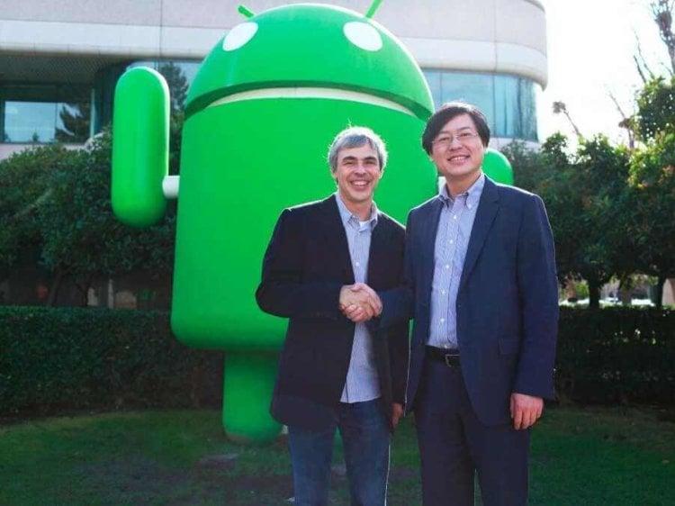Ларри Пейдж (Google) и Ян Юаньцин (Lenovo)