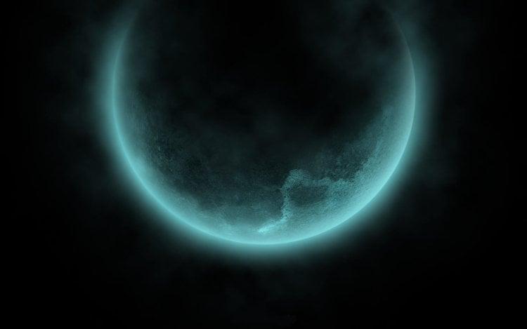 Бирюзовая сторона Луны
