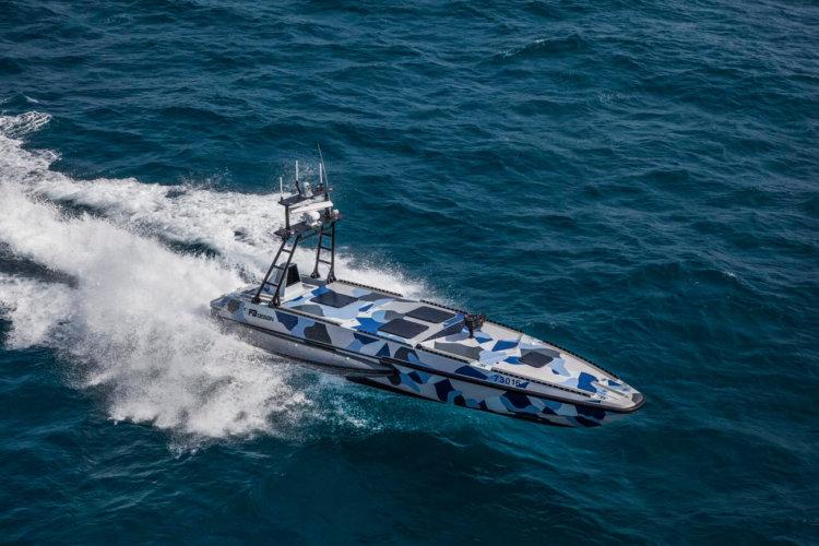 Новый беспилотный военные катер Katana