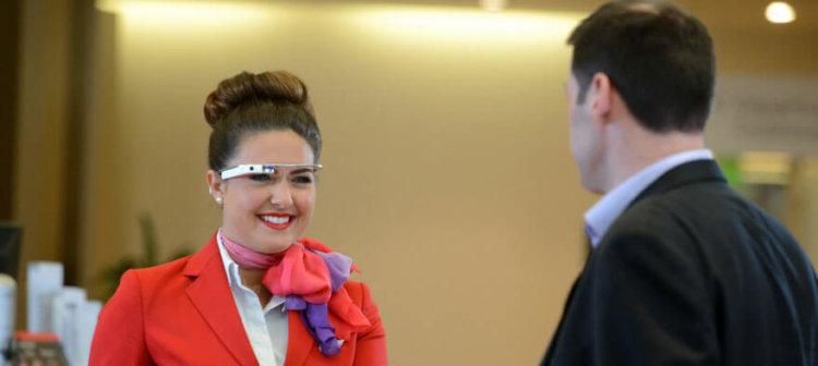 Google Glass в эропорту