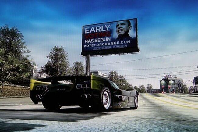Предвыборная кампания Барака Обамы в игре Burnout Paradise