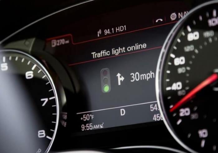 Система распознавания светофоров Audi Online
