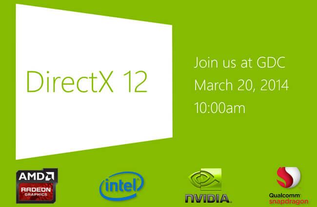 Microsoft представит DirectX 12 на грядущей конференции GDC-2014