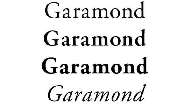 Тот самый шрифт Garamond