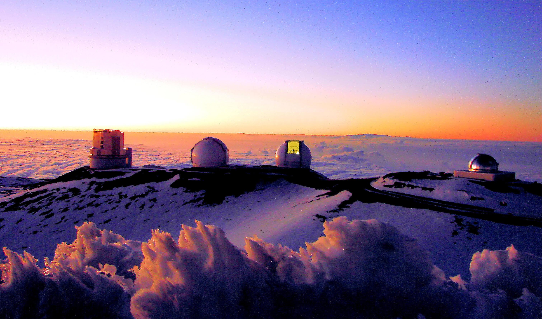 Другие телескопы, расположенные на вершине этого вулкана