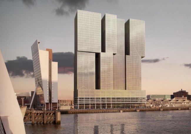 Здание De Rotterdam, в котором появятся первые квартиры-трансформеры