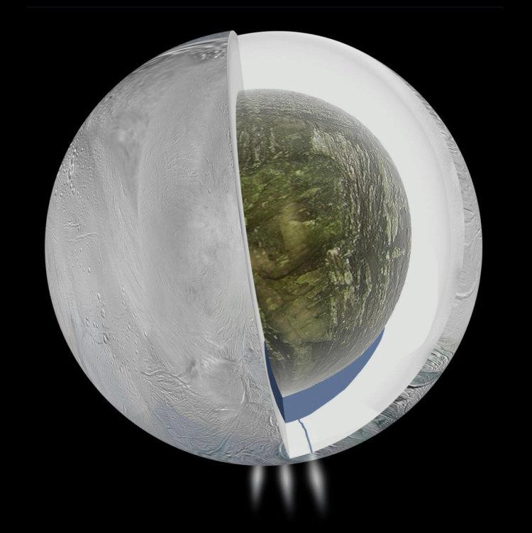 На Энцеладе обнаружен океан