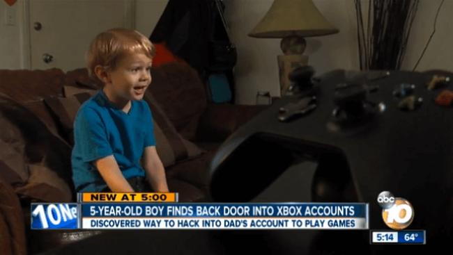 Пятилетний мальчик обнаружил брешь в безопасности Xbox Live