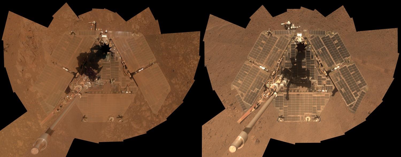 Природа Марса помогла очиститься солнечным панелям «Оппортьюнити» (2 фото)