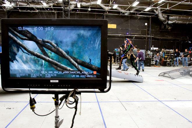 Технология виртуальной камеры позволяет видеть актёров в виртуальном мире ещё не снятого фильма